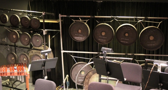 Tuned gongs.