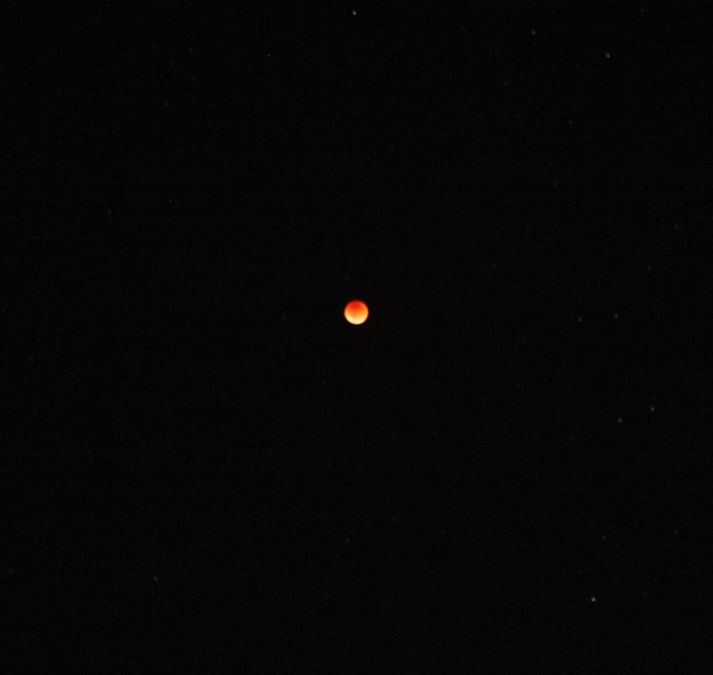 Do you see the stars as well? - Các bạn có thấy các ngôi sao sáng chung quanh mặt trăng không? (Photo: Anvi Hoàng)